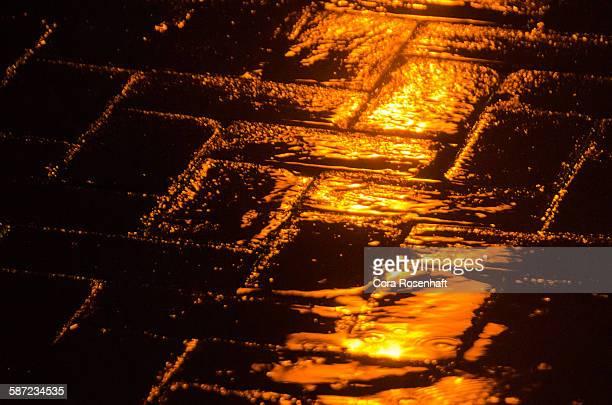 Light Reflecting on Wet Brick