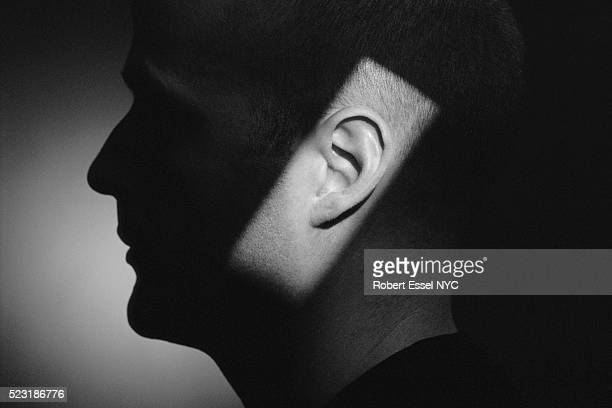 light shining on ear - ear stock pictures, royalty-free photos & images