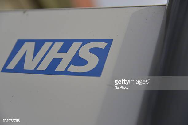 Light shining on the National Health Service logo at Manchester Royal Infirmary University Hospital in Manchester on Friday 11th December 2015 A new...