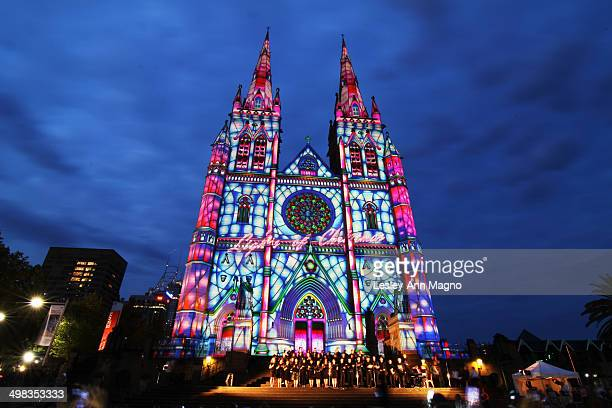 CONTENT] A light show and choir program was performed in front of St Mary's Cathedral in Sydney Australia This was done as part of the yearly...