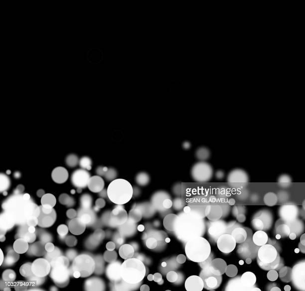 light sparkle - noel noir et blanc photos et images de collection