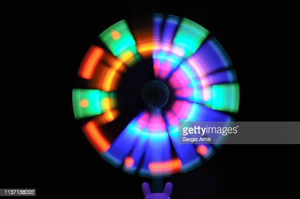 led light spinner - light natural phenomenon ストックフォトと画像