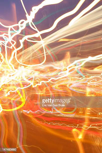 light streaks - eric van den brulle stock pictures, royalty-free photos & images