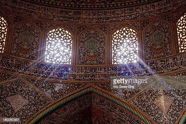 Light streaming into mosque