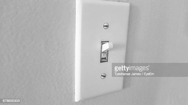 Light Switch In Bathroom At Home