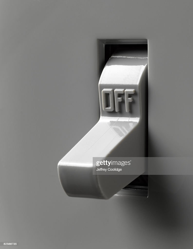 Light switch in off position : Stock Photo