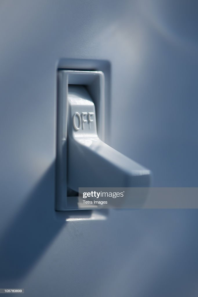Light switch : Stock Photo