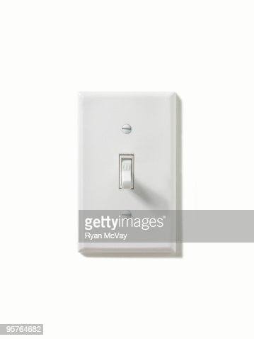 Light Switch Turned Off Stock Photo