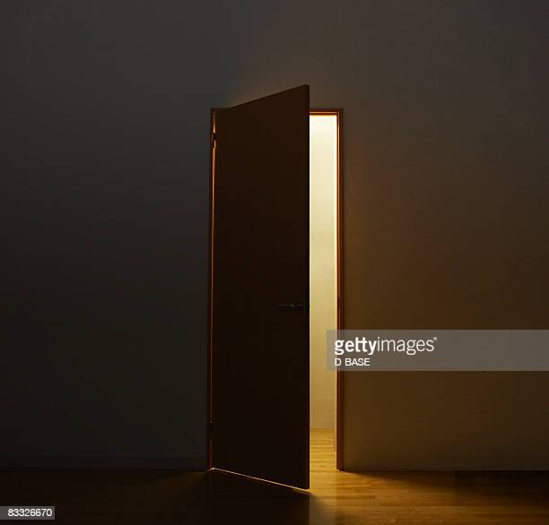 Light through open door