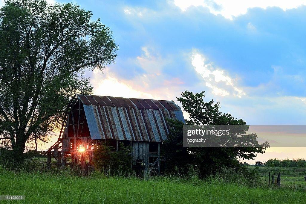 light through the barn : Stock Photo