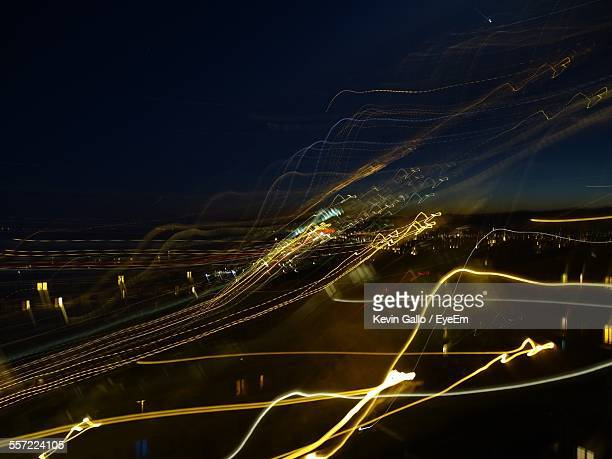 Light Trail In City At Night