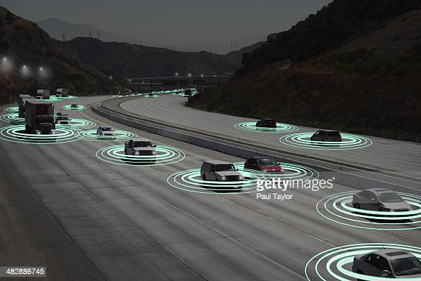 Light Trails as Vehicles Communicate