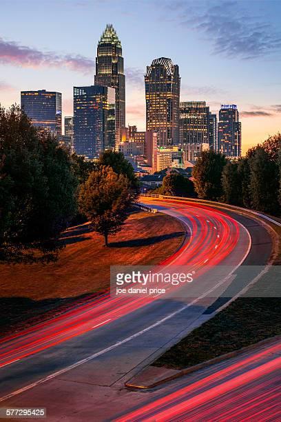 Light Trails, Charlotte, North Carolina, America