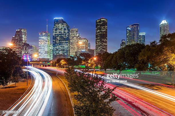Light Trails, Houston, Texas, America