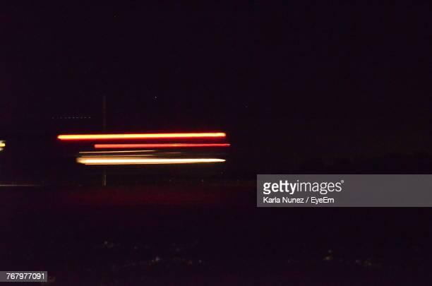 Light Trails On Car At Night