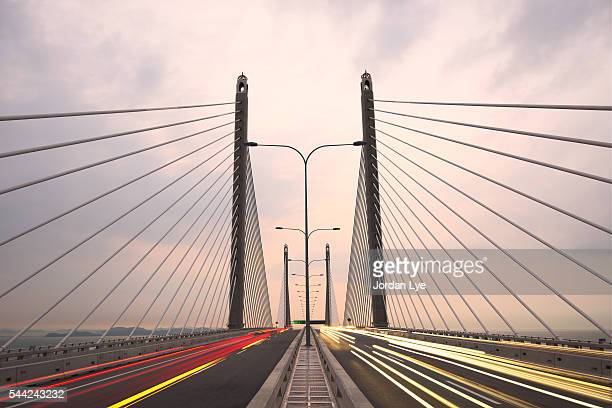 Light Trails on Penang Bridge