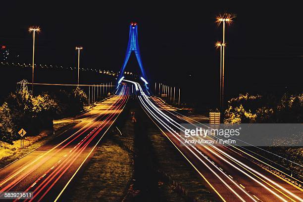 Light Trails On Road At Drogheda