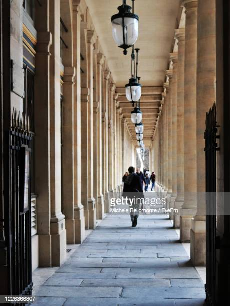 light tunnel - palais royal stock pictures, royalty-free photos & images