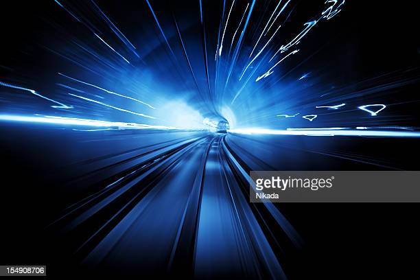 light tunnel - data stream stock photos and pictures