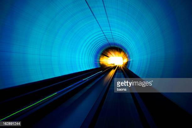 light tunnel - zoom background stock pictures, royalty-free photos & images