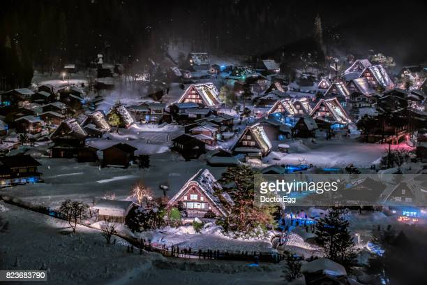 Light Up Illumination at Shirakawago World Heritage Village