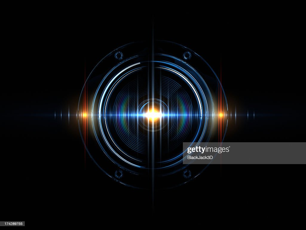 Light Wave Of Sound : Stock Photo