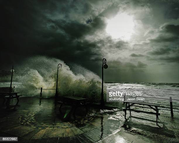 light waves - stormy weather - s0ulsurfing stock pictures, royalty-free photos & images