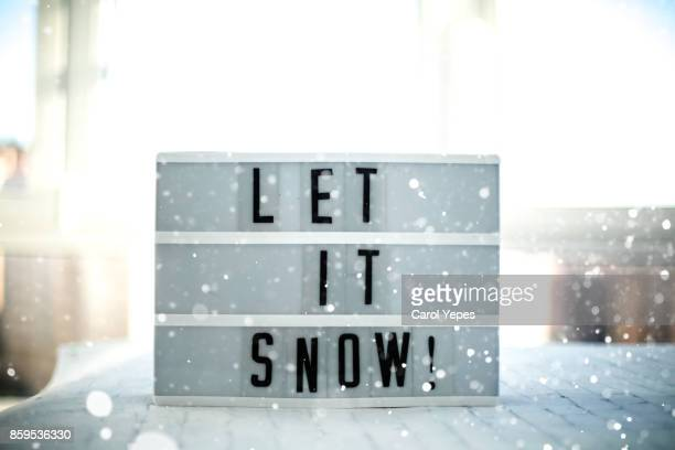 lightbox with message