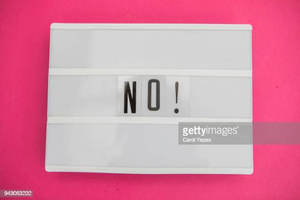 "lightbox with  ""  no"" message - quotation text stock photos and pictures"