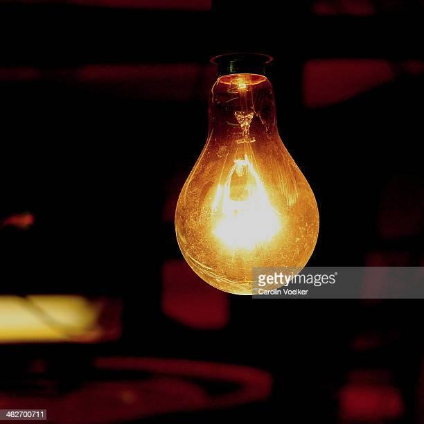 Lightbulb in a Hong Kong wet market