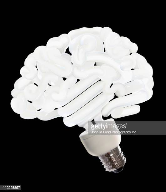CFL lightbulb shaped like a brain
