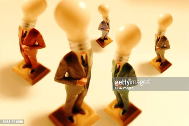 Lightbulb-Headed Businessmen