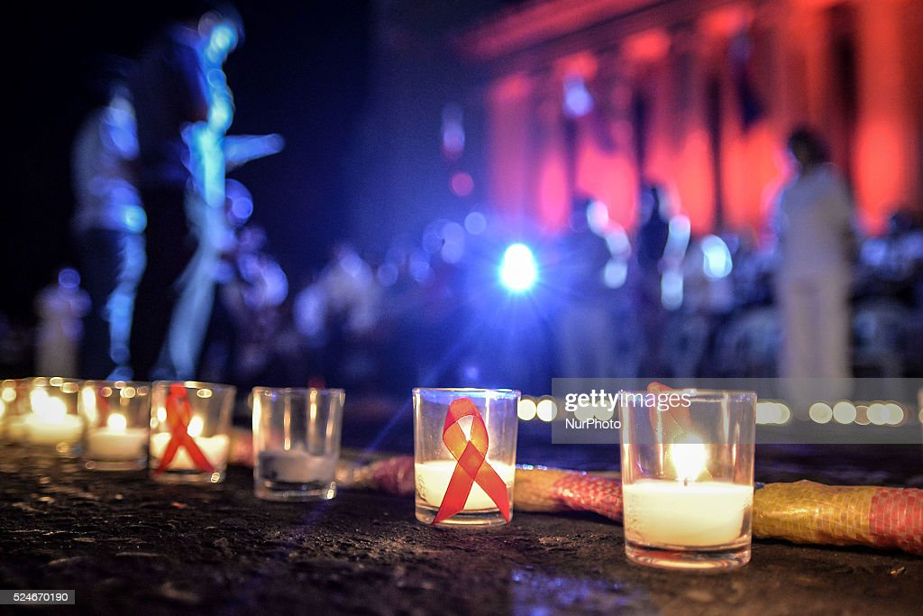 International AIDS Candlelight Memorial in Manila : News Photo