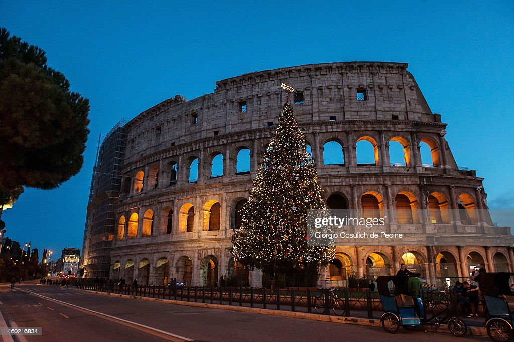 Christmas Lighting And Decorations In Rome : News Photo