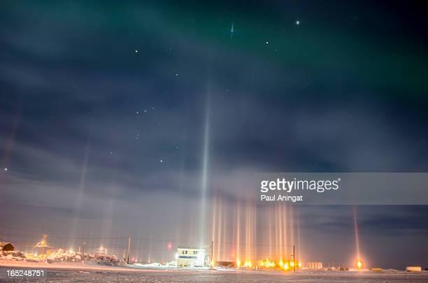Lighted Ice Pillars
