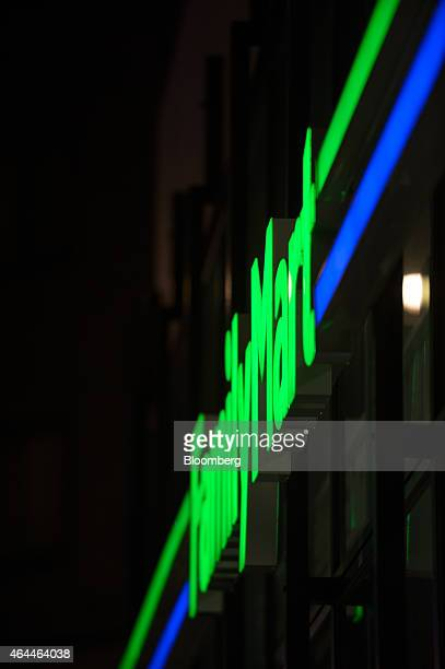 Lightemitting diodes illuminate the FamilyMart Co logo at one of the company's convenience stores in Tokyo Japan on Wednesday Feb 25 2015 LEDs are...