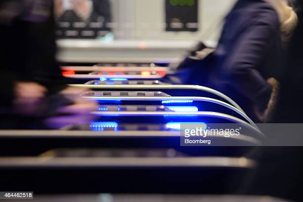 Lightemitting diodes illuminates ticket gates at a train station in Tokyo Japan on Wednesday Feb 25 2015 LEDs are built using semiconductors that...