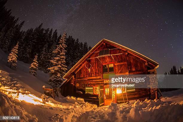 Atténuées de montagne dans les Alpes autrichiennes dans La Voie Lactée