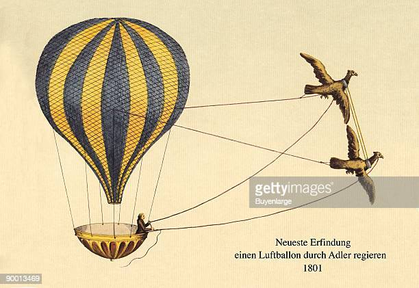 Lighter than Air hot air helium and hydrogen filled balloons for transport and military reconnaissance