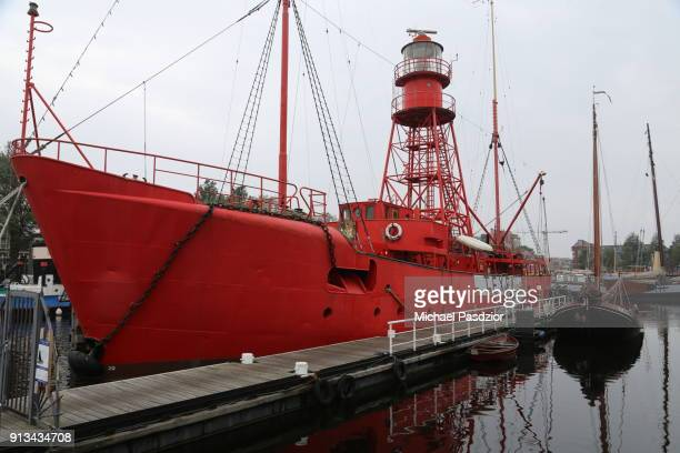 lightfire ship in the harbour