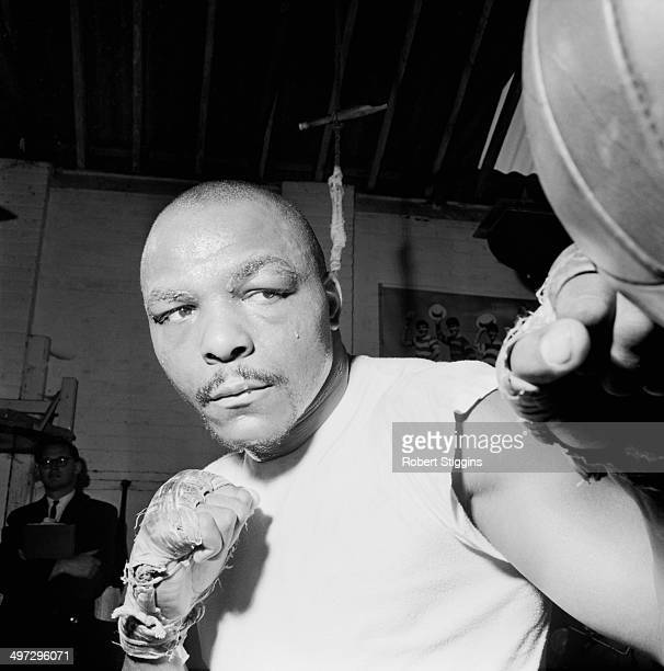 Light-heavyweight boxer and later singer Freddie Mack in training, UK, 13th October 1964.