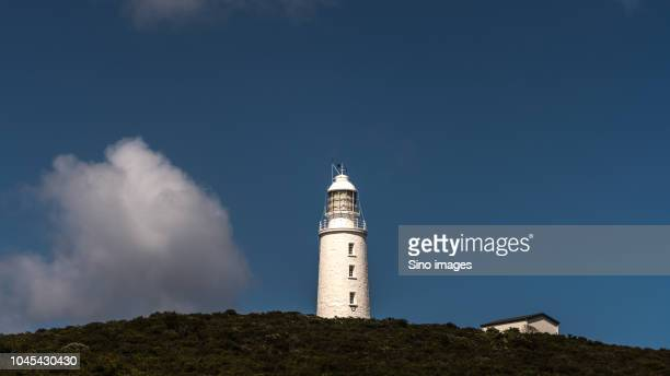 lighthouse against blue sky, australia - image stock pictures, royalty-free photos & images
