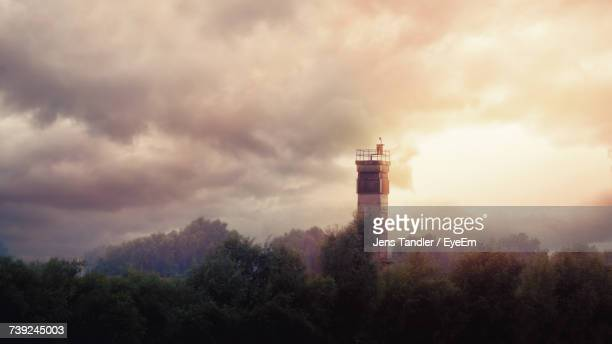 lighthouse against sky - prison building stock pictures, royalty-free photos & images