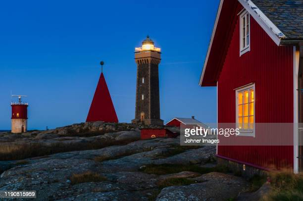 lighthouse and buildings - gothenburg stock pictures, royalty-free photos & images