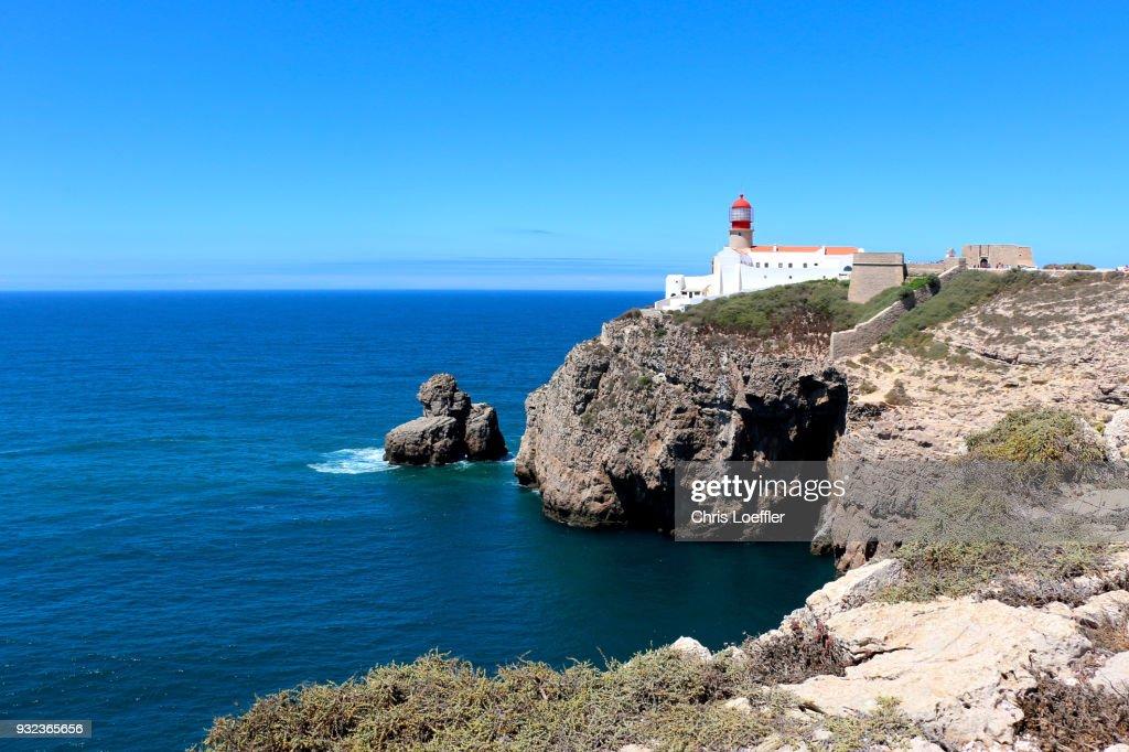 Lighthouse and coast, Sagres : ストックフォト