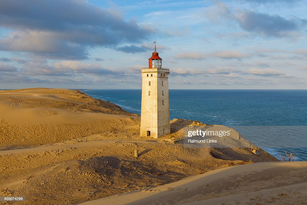 Lighthouse and Dune, Rubjerg Knude : Stock Photo