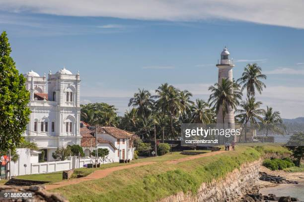 Lighthouse and mosque in Galle