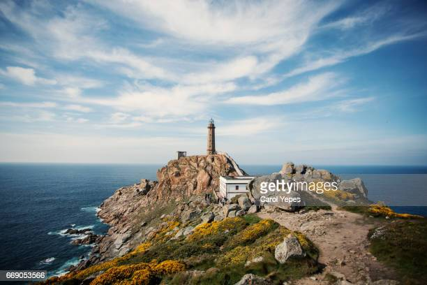 Lighthouse and museum, Cabo Vilan, Galicia, Spain, Europe