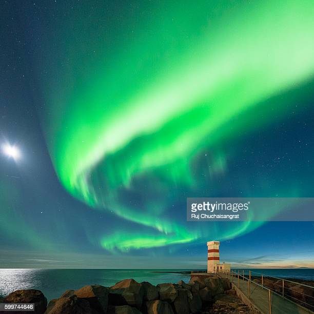 Lighthouse and Northern Light