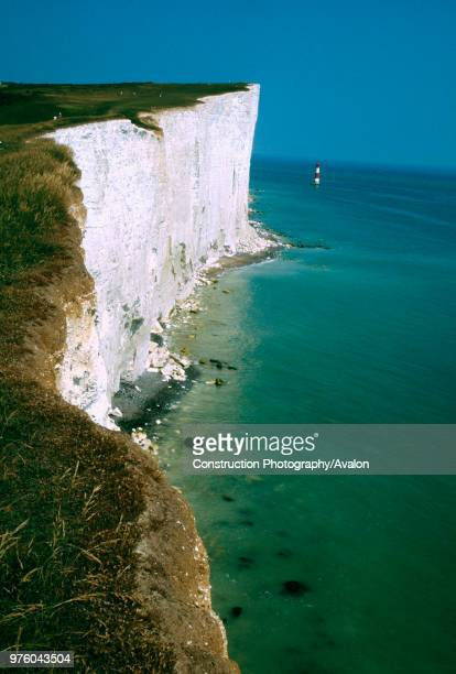 Lighthouse and White Cliffs Beachy Head Sussex UK